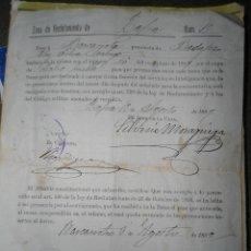 Militaria: ANTIGUO DOCUMENTO MILITAR - RECLUTAMIENTO ZAFRA - BADAJOZ - AÑO 1899. Lote 61931796