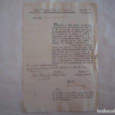 Militaria: RARO DOCUMENTO SOBRE EL MANTENIMIENTO DE LOS MILICIANOS.1823. GERONA.FOLIO.FIRMAS. Lote 62214164