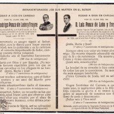Militaria: RECORDATORIO CAPITÁN CABALLERÍA RODRIGO PONCE DE LEÓN Y CAMISA VIEJA DE FALANGE LUIS PONCE DE LEÓN. Lote 62448856