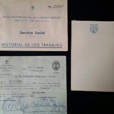 Militaria: LOTE CARTILLAS SERVICIO SOCIAL DE LA MUJER. FALANGE . FALANGISTA. FRANQUISTA.SECCIÓN FEMENINA. FRANC. Lote 62500695