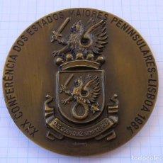 Militaria: MEDALLA BRONCE 1984 - XXX CONFERENCIA DOS ESTADOS MAIORES PENINSULARES - LSBOA 1984. Lote 63010052