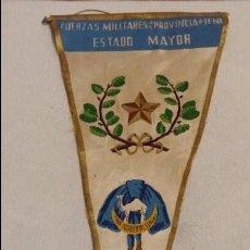 Militaria: BANDERIN FUERZAS MILITARES DE LA PROVINCIA DE IFNI, ESTADO MAYOR A.O.E.1958, SAHARA, SIDI IFNI, . Lote 63155724