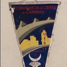 Militaria: BANDERIN COMANDANCIA DE OBRAS DE CANARIAS, DESTACAMENTO DE IFNI 1958 SAHARA , SIDI IFNI, . Lote 63156732