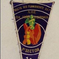 Militaria: BANDERIN RGTO RED PERMANENTE SET, A.O.E. CIA TRANSMISIONES 1º SECTOR IFNI 1958 SAHARA , SIDI IFNI,. Lote 63157036