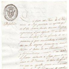 Militaria: 1º G. CARLISTA, URGENTISIMO MANDAR HOMBRES, CON 2 OFICIALES, REBELIÓN EN LA ZONA NORTE DE LUGO, 1834. Lote 99311359