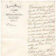 Militaria: CONCEDEN PASAPORTE PARA QUE EN COMPAÑÍA DE SU ESPOSA PUEDA TRASLADARSE A LA CORTE, PAMPLONA 1850. Lote 63819067