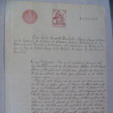 Militaria: ARCHIVO DE LA MARINA: CERTIFICADO MATRIMONIO ABUELOS MATERNOS DE CONTRALMIRANTE ARMADA.1914. Lote 64196167