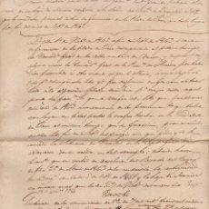 Militaria: BORRADOR, AMPLIACIÓN PARA LA HOJA DE SERVICIO DEL BRIGADIER FRANCISCO VICENTE YRAÑETA 1850. Lote 64729067
