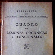 Militaria: REGLAMENTO DEL BENEMÉRITO CUERPO DE MUTILADOS DE GUERRA. 1939. Lote 64845859