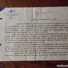 Militaria: RARO DOCUMENTO ZONA AÉREA DE BALEARES. PALMA DE MALLORCA ( 9/11/1946). Lote 64846791