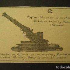 Militaria: FABRICACION ARTILLERIA, ARMAS Y MUNICION.PLACENCIA Y ANDOAIN. PUBLICIDAD DE REVISTA DE LOS AÑOS 50. Lote 66952442