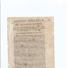 Militaria: GUERRA DE LA INDEPENDENCIA. RARO IMPRESO. 1808. MONTORO (CÓRDOBA). Lote 66972586