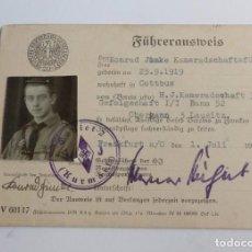 Militaria: HJ. LOTE DE DOCUMENTOS SEGUNDA GUERRA MUNDIAL. 1939 - 1945. Lote 67241977