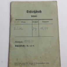 Militaria: WEHRMACHT. ORIGINAL LIBRO DE TIRO DE PISTOLA DE LA SEGUNDA GUERRA MUNDIAL. 1938/39. Lote 67245965
