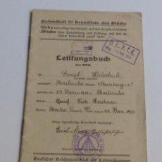 Militaria: ORIGINAL LEISTUNGSBUCH DE LA SEGUNDA GUERRA MUNDIAL. 1931. Lote 67261821