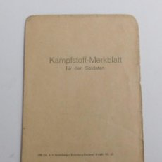 Militaria: KAMPFSTOFF MERKBLATT DE LA SEGUNDA GUERRA MUNDIAL. 1939 - 1945. Lote 67384065