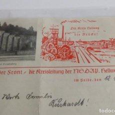 Militaria: NSDAP. CARTA ORIGINAL CON SOBRE DE 1941.. Lote 67386177