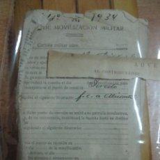 Militaria: CARTILLA MILITAR 1940 ALICANTE 16 PAGINAS. Lote 67409749
