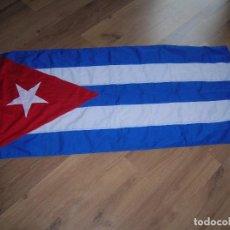 Militaria: ESPECTACULAR BANDERA DE CUBA. ORIGINAL 100% CUBANA. ESTRELLA, TRIÁNGULO Y BARRAS BORDADAS EN TELA.. Lote 68573213