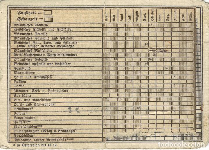 Militaria: Licencia de caza para guardias forestales (Gebührenfreier Jahresjagdschein) - Foto 2 - 68772257