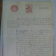 Militaria: ARCHIVO DE LA MARINA: CERTIFICADO MATRIMONIO ABUELOS MATERNOS DE CONTRALMIRANTE ARMADA.1914. Lote 68865317
