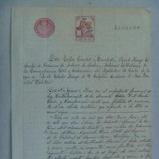 Militaria: ARCHIVO DE LA MARINA: CERTIFICADO MATRIMONIO ABUELOS MATERNOS DE CONTRALMIRANTE ARMADA.1914. Lote 68941901