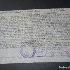 Militaria: CIRCULAR REGIMIENTO INFANTERIA FLECHAS AZULES N.14 - TETUAN 1941 - RELATIVA A ALBOROTOS EN CABARETS. Lote 69500465