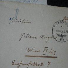 Militaria: II GUERRA MUNDIAL ALEMANIA GERMANY CARTA Y SOBRE TENIENTE GEORG AICHHORN 1942. Lote 69820265