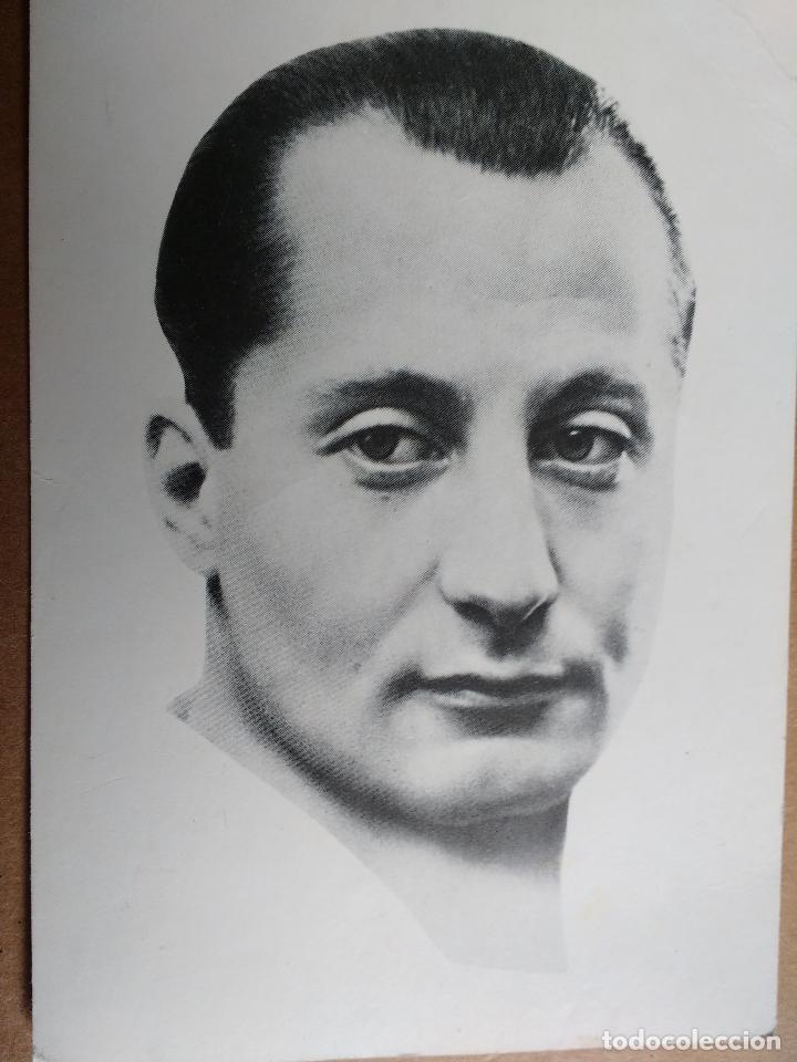 FALANGE ESPAÑOLA, JOSE ANTONIO PRIMO DE RIVERA, CARA AL SOL EN EL REVERSO. (Militar - Propaganda y Documentos)