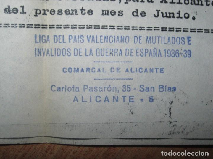 Militaria: sobre y carta LIGA PAIS VALENCIANO MUTILADOS GUERRA CIVIL ESPAÑA 1936 39 ALICANTE SAN BLAS - Foto 2 - 70058425