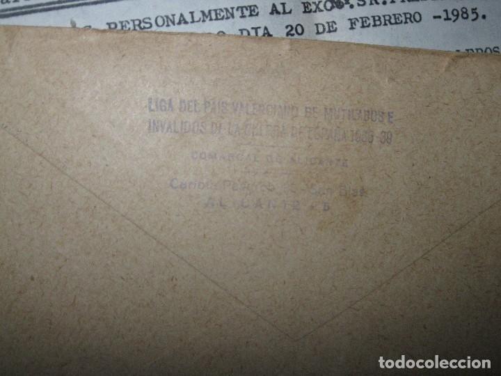 Militaria: sobre y carta LIGA PAIS VALENCIANO MUTILADOS GUERRA CIVIL ESPAÑA 1936 39 ALICANTE SAN BLAS - Foto 4 - 70058425