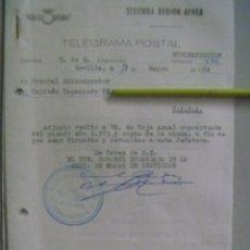 Militaria: AVIACION , 2ª REGION AEREA: TEMA HOJA ANUAL DE CAPITAN. SEVILLA, 1974. 2 DOCUMENTOS. Lote 70342461