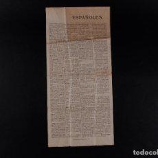Militaria: ESCRITO EN PRENSA DE MIGUEL PRIMO DE RIVERA Y ORBANEJAS 1926. Lote 71537479