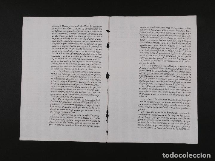 Militaria: LIBRAMIENTO DE PÓLVORA, BALAS... EL PARDO 1806 - Foto 2 - 71557703