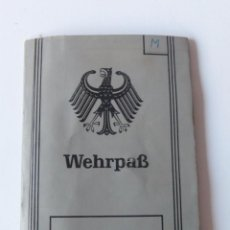 Militaria: WEHRPASS BUNDESWEHR ALEMANIA 1962. Lote 71667067