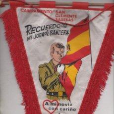 Militaria: BANDERIN RECUERDO JURA DE BANDERA CIR Nº 9 AÑOS 60. Lote 71744447