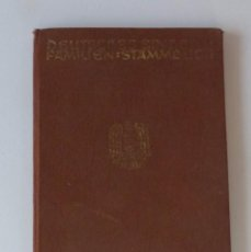 Militaria: AHNENPASS / FAMILIENSTAMMBUCH ORIGINAL DE LA SEGUNDA GUERRA MUNDIAL. 1941. Lote 193560451