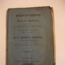Militaria: 1837 MANIFIESTO A LAS DIPUTACIONES PROVINCIALES CATALUÑA NOMBRADOS PARA ACOMPAÑAR A CAPITAN GENERAL . Lote 72131567