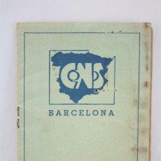 Militaria: ANTIGUO CARNET DE LA CENTRAL NACIONAL SINDICALISTA / CNS - CON CUPONES - BADALONA, AÑO 1941. Lote 72744619