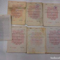 Militaria: GALICIA LUGO BECERREA - GUERRA CIVIL - LOTE 7 CARTILLAS RACIONAMIENTO + INFO. Lote 73505663