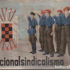 Militaria: FOLLETO TAMAÑO POSTAL - NACIONAL SINDICALISTO - FALANGE . Lote 73555523