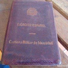 Militaria: EJERCITO ESPAÑOL CARTILLA MILITAR DE IDENTIDAD TENIENTE CORONEL GUARDIA CIVIL EPOCA REPUBLICA. Lote 74626647