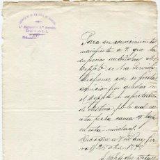 Militaria: ESCRITO DEL CUERPO DE INFANTERÍA DE MARINA, 2º REGIMIENTO, 1ER BATALLÓN. DETALL. 1898. . Lote 76007539