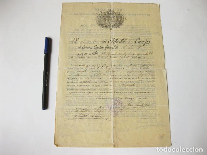 CARTA DEL EJERCITO DE UN RECLUTA EXCEPTUADO DEL SERVICIO MILITAR. SALAMANCA 1898 (Militar - Propaganda y Documentos)