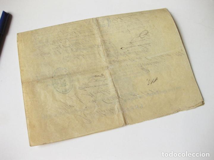 Militaria: CARTA DEL EJERCITO DE UN RECLUTA EXCEPTUADO DEL SERVICIO MILITAR. SALAMANCA 1898 - Foto 4 - 76158271