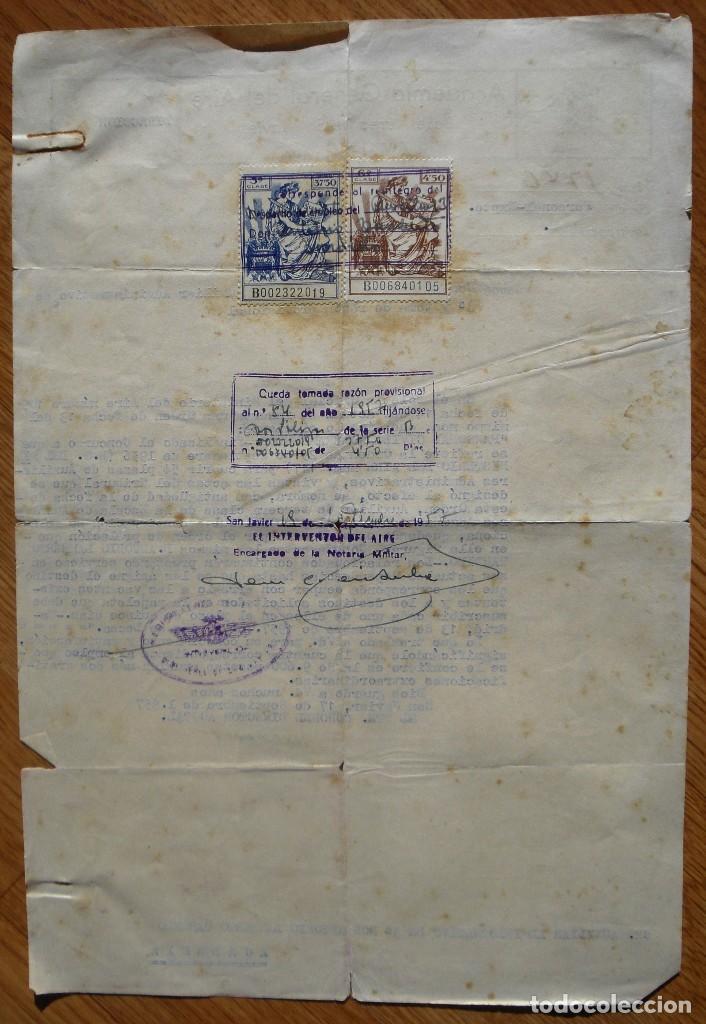 Militaria: Academia General del Aire. Comunicado. Nombramiento. San Javier. Murcia. 1957. - Foto 2 - 76713055