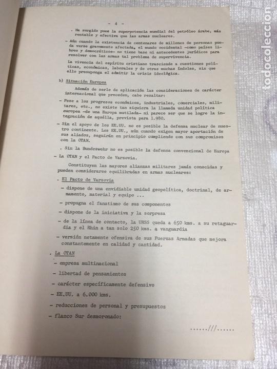 Militaria: INFORME ANUAL SOBRE EJERCITOS EXTRANJEROS. ESTADO MAYOR DEL EJERCITO.INFORMACIÓN LIMITADA. 1974 - Foto 4 - 77432271