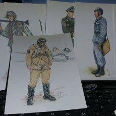 Militaria - Colección de 18 postales de uniformes alemanes de la Segunda Guerra Mundial luftwaffe - 77944997