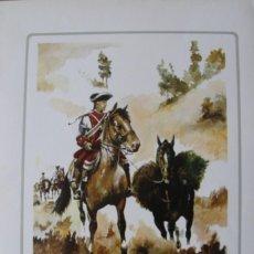 Militaria: LAMINA UNIDAD MILITAR DE CABALLERIA: REGIMIENTO DE SANTIAGO (1707) - SANFELIZ. Lote 78396437