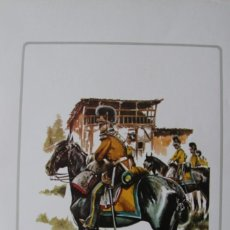 Militaria: LAMINA UNIDAD MILITAR DE CABALLERIA: DRAGONES DE GRANADA 1808. Lote 78396945